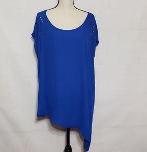 Torrid blue asymmetrical shirt